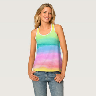 Hand painted watercolor patterns and textures tank top