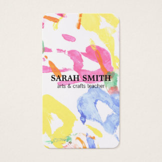 Hand Painting Business Card