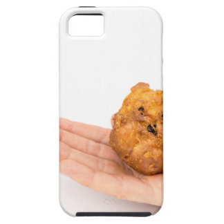 Hand palm showing fritter or oliebol iPhone 5 covers