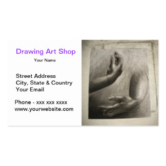 Hand Pencil Drawing Art Shop Pack Of Standard Business Cards