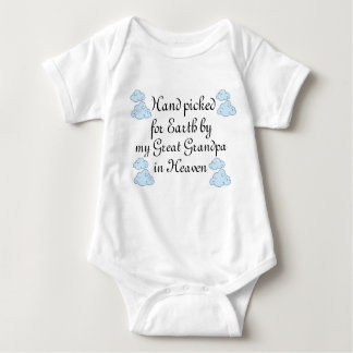 'Hand Picked For Earth...'Slogan baby Baby Bodysuit
