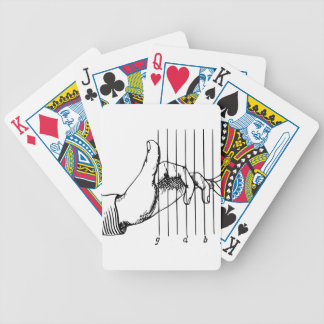 Hand Playing Musical Notes Bicycle Playing Cards