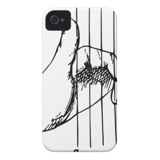 Hand Playing Musical Notes iPhone 4 Covers