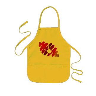 hand print kids apron