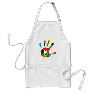 Hand Print Painting Standard Apron