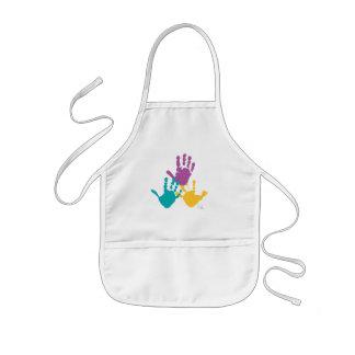 hand prints kids apron