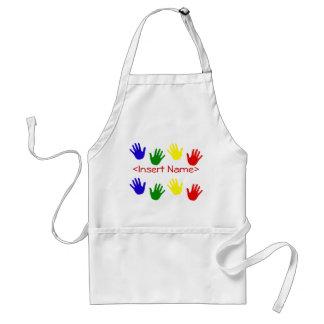 hand prints adult apron