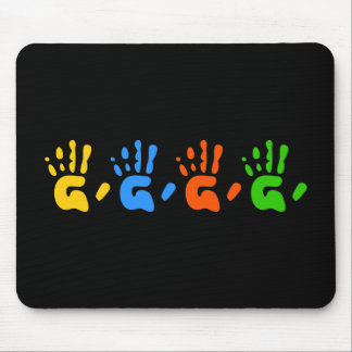Hand Prints Mouse Pad