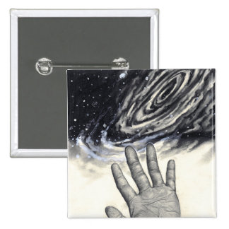 Hand Reaching for the Stars 2 Inch Square Button