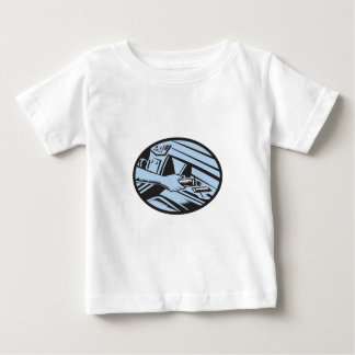 Hand Reaching in Glove Box for Energy Bar Oval Woo Baby T-Shirt