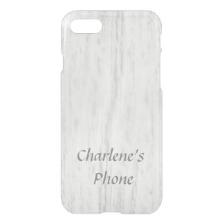 Hand Rubbed Grey Wood Look with Name iPhone 8/7 Case
