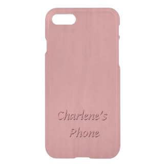 Hand Rubbed Wood Look in Dusty Pink Color iPhone 8/7 Case