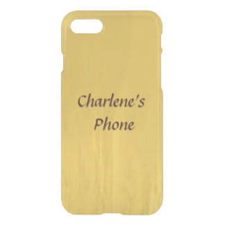 Hand Rubbed Wood Look in Goldenrod Color iPhone 8/7 Case