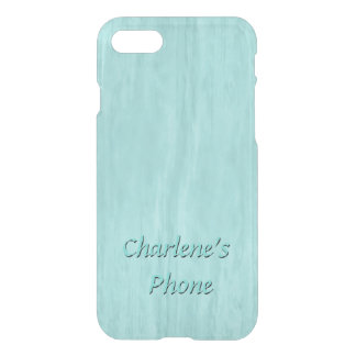 Hand Rubbed Wood Look in Turquoise iPhone 8/7 Case