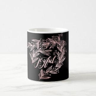 hand script joyful Mug