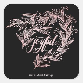 hand script joyful sticker