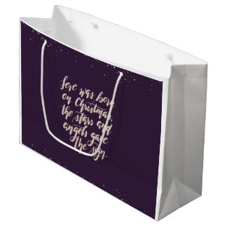 hand script original Holiday Gift Bag