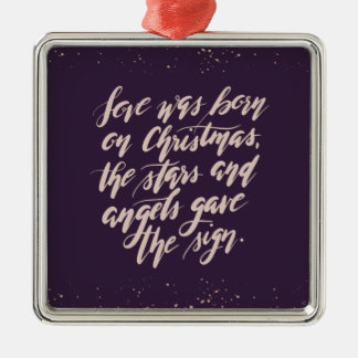 hand script original Holiday Ornament