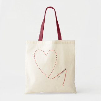 Hand Sewn Heart Needle & Thread Bag