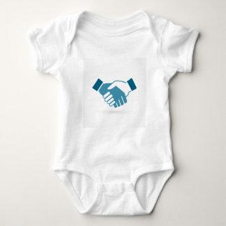 Hand shake baby bodysuit