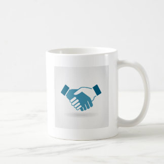 Hand shake coffee mug