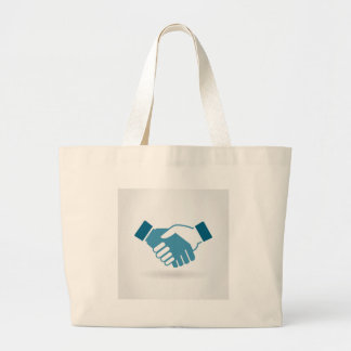 Hand shake large tote bag