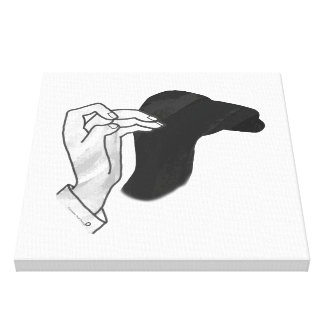 Hand Silhouette Camel Canvas Print