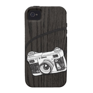 Hand Sketched Retro Camera iPhone 4 Cases