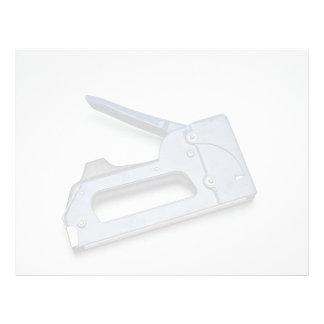 Hand stapler personalized letterhead