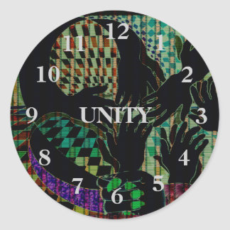 Hand to Hands Abstract Art Diversity Unity Sticker