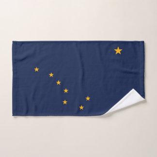 Hand Towel with Flag of Alaska State, USA