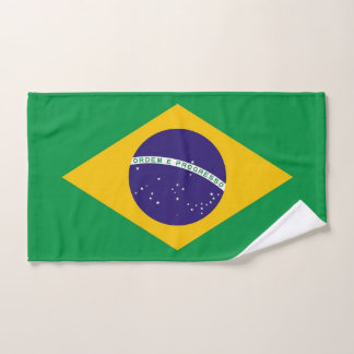Hand Towel with Flag of Brazil