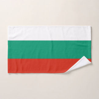 Hand Towel with Flag of Bulgaria