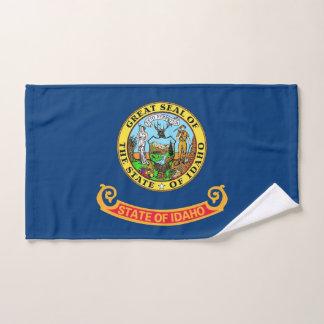 Hand Towel with Flag of Idaho State, USA