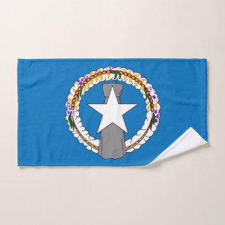 Hand Towel with Flag of Northern Mariana, USA