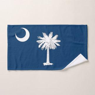 Hand Towel with Flag of South Carolina State, USA