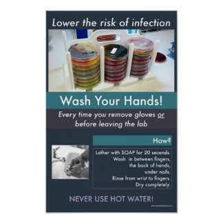 Hand-washing Safety Informational Poster