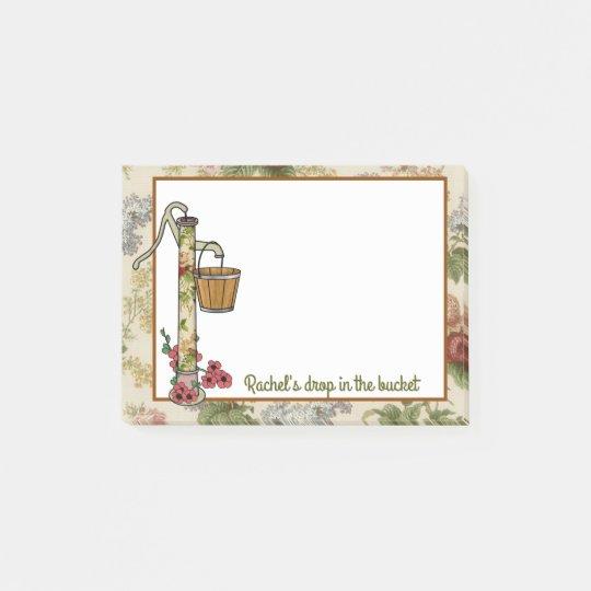 Hand Water Pump in Flower Garden Post-it® Notes