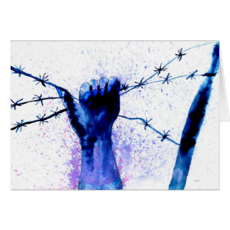 Hand with Barbed Wire4 Card