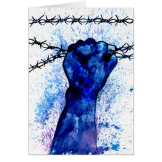 Hand with Barbed Wire Card