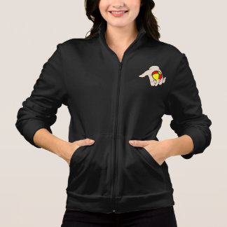 Hand With Juggling Ball Womens Jacket