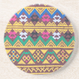 Hand Woven Thai Silk Pattern Coaster