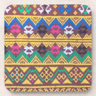 Hand Woven Thai Silk Pattern Drink Coasters