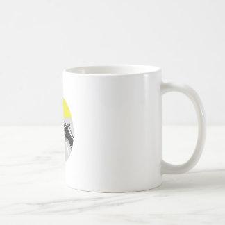 Hand Writing Journal Circle Woodcut Coffee Mug
