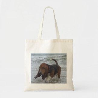 Handbag Basset Hound By The Sea