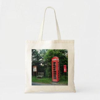 Handbag Countryside Red Phone and Mail Box Budget Tote Bag
