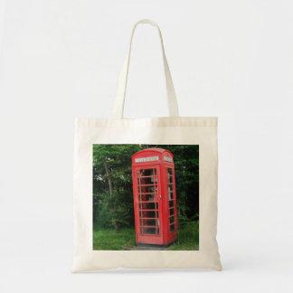 Handbag Countryside Red Phone Box Budget Tote Bag