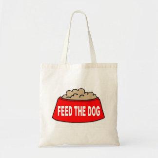 Handbag Dog Food Bowl Red Feed The Dog Tote Bags