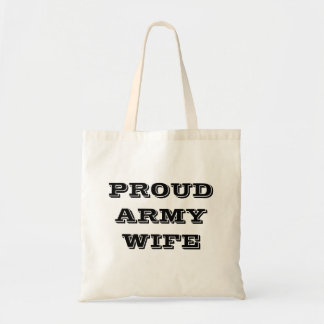 Handbag Proud Army Wife Budget Tote Bag