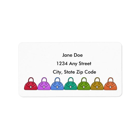 Handbags Address Avery Label